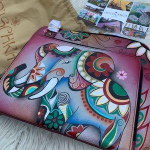 Anuschka hand painted leather bag